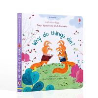 物竞天择,适者生存。 LTF FIRST Q&A WHY DO THINGS DIE?英文原版绘本 6-9岁儿童低幼启蒙