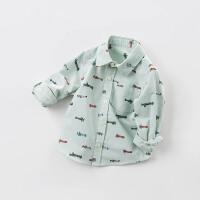 davebella戴维贝拉春季新款衬衫 男宝宝飞机印花长袖衬衫DBB6858
