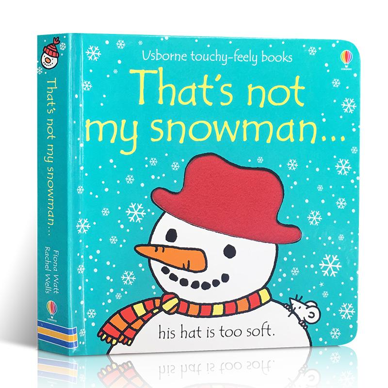 英文原版 That's Not My Snowman 那不是我的雪人 幼儿触觉认知趣味绘本 Usborne出版社图书 翻翻纸板书 亲子阅读