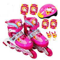 儿童全套轮滑鞋闪光直排轮可调正品溜冰鞋旱冰鞋