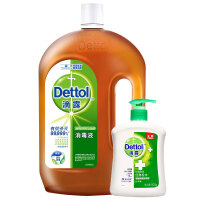 滴露(Dettol)消毒液1.8L*2 衣物除菌液家用杀菌消毒地板宠物洗衣消毒,送家庭试用装超浓缩衣物除菌液180ml