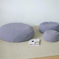 日式棉麻懒人沙发简约布艺可拆洗榻榻米蒲团茶艺坐垫地板坐墩