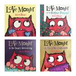 The Love Monster Collection 小怪兽阿蒙(四册全)英文原版绘本 儿童情绪情感教育故事书 亲子