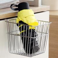 【领券】ORZ 电镀款方形多功能办公挂篮 宿舍床头收纳架盒框寝室上铺床边置物篮