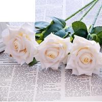 假花绢花塑料花装饰花束餐桌摆设花仿真玫瑰花套装