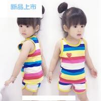 男女童夏装套装纯棉宝宝背心夏季儿童短裤两件套5小孩衣服2-3-4岁