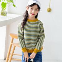 女童毛衣2018新款儿童秋冬装加厚高领线衣中大童低领针织衫打底衫
