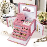 新款木质欧式首饰盒带锁韩国公主饰品珠宝结婚生日礼品首饰收纳盒