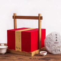 创意双层普洱茶包装白茶茶饼盒通用包装盒空礼盒