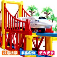 小火车玩具电动轨道车和谐号高铁双层儿童益智拼搭男孩2-3-6岁