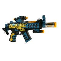 2-3-8岁儿童玩具枪声光男孩投影电动模型宝宝音乐冲锋机关抢 普通电池版