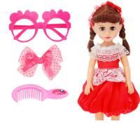 洋娃娃套装会说话的儿童小女孩玩具公主衣服超大单个 【超大娃娃】【 会眨眼会说话】