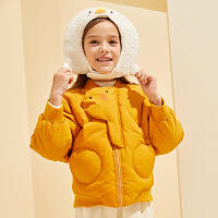 【2件4折:129】巴拉巴拉旗下巴帝巴帝2019年冬女童中大童甜趣可爱儿童保暖加厚棉服短