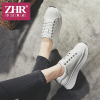 ZHR2018春季新款小白鞋厚底运动鞋板鞋平底学生鞋子单鞋真皮女鞋B85