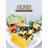 大号工程车套装惯性挖掘机挖土机大吊车铲车