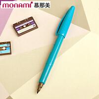 韩国monami/慕娜美04031-60PLUS PEN 豌豆蓝色水性笔勾线笔纤维绘图笔彩色中性签字笔书法美术绘画艺术