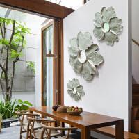 创意现代墙壁墙面挂饰家居装饰电视背景墙挂件卧室镜子牡丹花壁饰