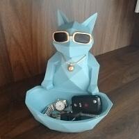北欧玄关柜装饰品创意招财猫摆件电视柜酒柜钥匙收纳摆设
