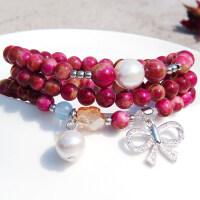 紫水晶星座手链女 韩版时尚百搭串珠手链多层手串手饰品配饰手环