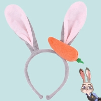 毛绒兔子耳朵发箍卡通头饰 幼儿园毕业表演发卡