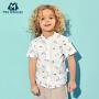 迷你巴拉巴拉纯棉体恤儿童夏装男宝宝童装度假风上衣男童短袖T恤