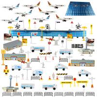 儿童玩具飞机模型仿真场景套装拼装模型国际机场直升机客机