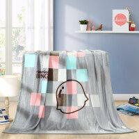 【1件5折】水星家纺卡通盖毯毛毯 摩卡印象法兰绒毯 炮炮兵系列 新品