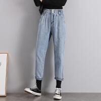 Lee Cooper新款女韩版修身显瘦百搭哈伦裤子直筒女装裤子高腰牛仔裤女