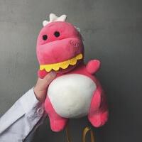新款卡通恐龙斜挎包可爱儿童公仔单肩包亲自毛绒玩具包公主小背包