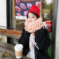 围巾女秋冬季韩版百搭外搭仿羊绒披肩新款加厚保暖两用学生围脖
