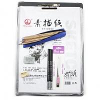 初学素描工具MARCO MARCO 马可7件套装12支素描铅笔+炭笔+橡皮+速写板+素描纸素描 铅笔套装
