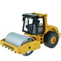 合金工程车模型1:50单钢轮压路机儿童玩具车原厂仿真
