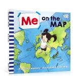 英文原版进口童书 Me on the Map 吴敏兰推荐书单绘本123 第115本 进口正版启蒙低幼入门图画书读物书籍