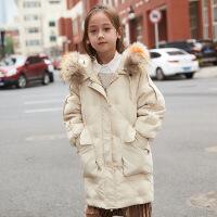 儿童羽绒服男童中长款女大童韩版童装女孩中大童反季