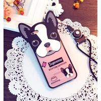 狗狗iphone6splus手机壳6/6s手机壳苹果6plus手机壳卡通挂绳7