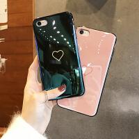 蓝光爱心苹果6手机壳6plus硅胶iphone6s挂绳情侣男女款