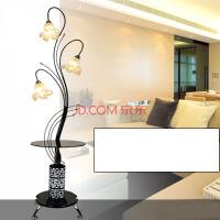 现代时尚创意简约欧美式百合茶几落地灯 客厅卧室床头台灯具 三八妇女节礼品礼物