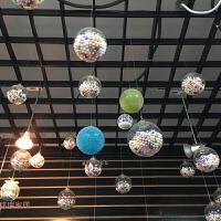 圣诞节装饰品塑料透明泡沫球挂饰圣诞树挂件婚庆商场橱窗吊顶装饰
