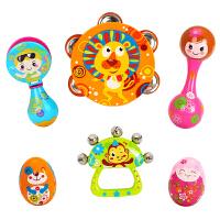 宝宝玩具0-3个月0-1岁6-12婴幼儿新生手摇铃抓握训练音乐