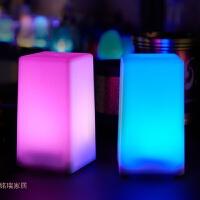 酒吧台灯led充电吧台灯创意个性卧室床头灯酒吧灯小夜灯方形桌灯 充电宝+ 调光开关