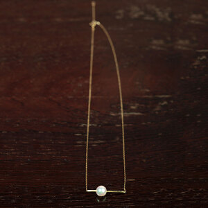 14k金镶嵌日本Akoya珍珠链坠