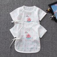 新生儿半背衣和尚服短袖新生儿宝宝婴儿和尚上衣服夏季纱布