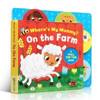 英文原版进口书 Where's My Mummy On The Farm 找妈妈在哪里农场篇儿童纸板书 机关书纸板撕不
