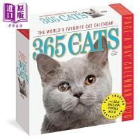 【中商原版】2020日历:365天的猫猫365 Cats Page-A-Day Calendar 2020 益智游戏书