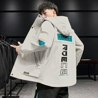 2021新款男士外套宽松潮流潮牌帅气青少年学生休闲夹克