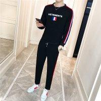 新品男装2018新款男士运动套装青年韩版跑步锻炼套装运动服两件套