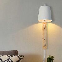 幽咸家居创意木灯 木艺楼梯 玄关过道灯 卧室床头灯 玻璃实木壁灯YX-LMD-3013