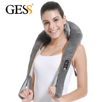 GESS 德国品牌 颈椎按摩器 肩颈按摩披肩 颈部腰部背部 支持定时功能 揉捏版 烟灰色 GESS015