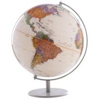 地球仪 博目地球仪 不锈钢底座支架 高清复古 32cm 中英文 Q3282