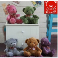 泰迪熊公仔 五彩熊娃娃毛绒玩具熊小号公仔创意礼物礼品